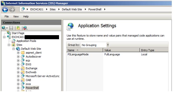 Exchange Remote PowerShell - PSLanguageMode to FullLanguage