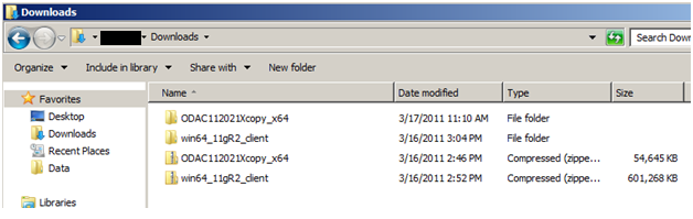 Oracle 11g R2 x64 Client with ODAC Installation Guide
